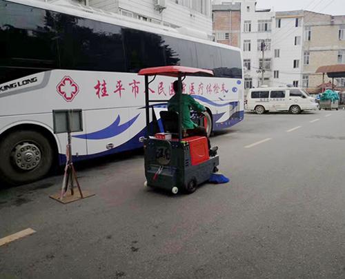 小型扫地车投放桂平医院清扫保洁